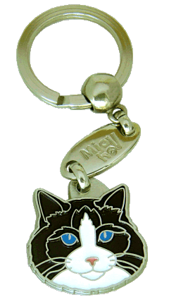 Ragdoll cat black bicolor - pet ID tag, dog ID tags, pet tags, personalized pet tags MjavHov - engraved pet tags online